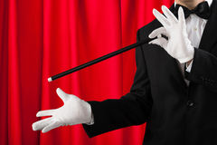 Close-up Of Magician Showing Trick Royalty Free Stock Photography