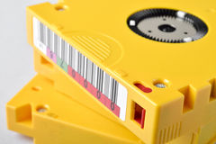 Close up with magnetic tape data storage. LTO-10 Stock Images