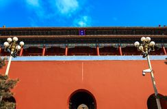 A close-up of the magnificent Duanmen. Palace mesuem of beijing , a royal palace of Ming and qing dynasty of China ,it has been regarded  the top five palace Royalty Free Stock Photos