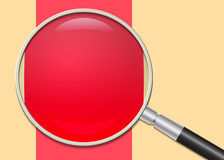 Close-up of magnifying glass and chart, vector eps10 illustration Royalty Free Stock Photos
