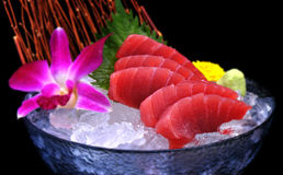 Close up maguro on ice Royalty Free Stock Photos