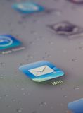 Close up of mail icon Stock Photo