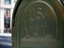 Closeup mailbox america or USA. Close up mailbox america or USA stock image