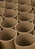Close up of Mailing Tubes. Close up of Brown Cardboard Mailing Tubes Royalty Free Stock Images