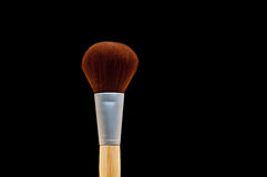 Close up of a make-up brush on black Royalty Free Stock Photography