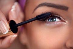 Close-up of make-up eye with mascara Stock Image