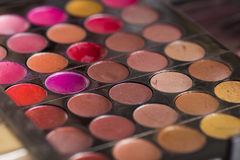 Close Up of Make Up Palette Stock Images