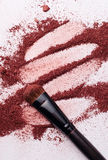 Close-up of Make-up Powder with Brush Stock Image