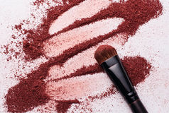 Close-up of Make-up Powder with Brush Royalty Free Stock Image