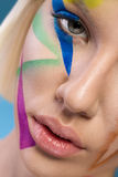 Close up of make-up woman face Royalty Free Stock Images