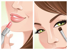 Close-up makeup Royalty Free Stock Photography