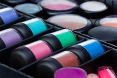 Close up makeup case Royalty Free Stock Photos