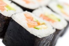 Close up of maki rolls Royalty Free Stock Photography