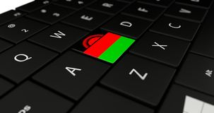 Close up of Malawi button. Stock Image