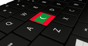 Close up of Maldives button. Stock Photography