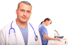 Close up of male Doctor with a female nurse Stock Image