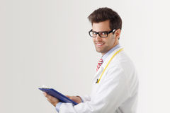 Close-up of a male doctor smiling Stock Photos