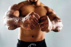 Close up of male fists Stock Image