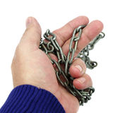 Hand with chain Stock Photos