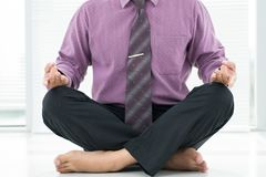 Lotus position Royalty Free Stock Photos