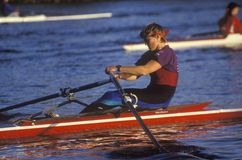 Close-up of male rower Royalty Free Stock Image