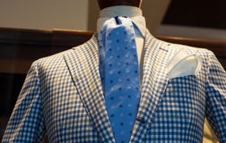 Close up of male suit. Close up of elegant male suit made in Italy Royalty Free Stock Photo