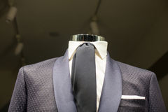 Close up of male suit. Close up of elegant male suit made in Italy Royalty Free Stock Photography