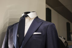 Close up of male suit. Close up of elegant male suit made in Italy Stock Image