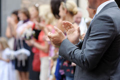 Close-up of man clapping his hands Royalty Free Stock Images
