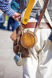 Close up of man dressed up as soldier for the anniversary of the Battle of the Alamo stock photo