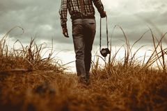 Close-up of a Man in Field Stock Images