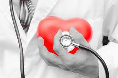 Close up of man hands check heart Royalty Free Stock Photo