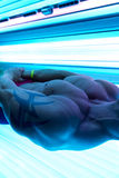 Close-Up Of An Man Having Solarium Beauty Treatment Royalty Free Stock Images