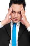 Close up man having stress Stock Photos