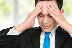 Close up man having stress Stock Image