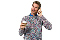 Close-up of man holding coffee Stock Image