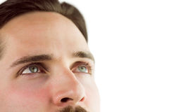 Close up of man looking up Stock Photography