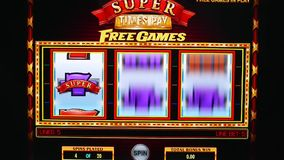 Close up man playing slot machine on computer screen. At home stock video footage