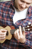 Close Up Of Man Playing Ukulele Stock Photos