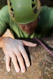 Close up man rock climbing Stock Photography