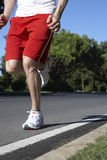 Close Up Of Man Running On Road Stock Image