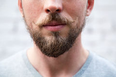 Close up man 's face. With a beard and mustache Stock Photo