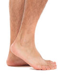 Close up of a man's feet Royalty Free Stock Photos