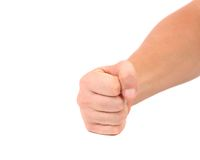 Close up of man's fist. Royalty Free Stock Photo
