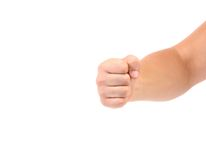 Close up of man's fist. Royalty Free Stock Images