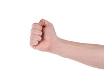 Close up of man's fist. Royalty Free Stock Photography