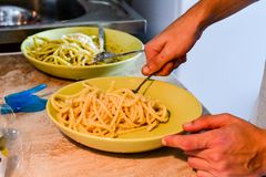 Bucatini pasta Stock Photography