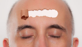 Close up of a man's head Royalty Free Stock Photography