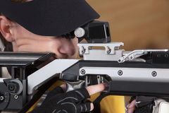 Close-up Of Man Shooting Target Stock Photos