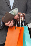 Close up of a man shopping Stock Photography
